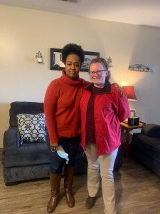 Beverly Farm QIDP Week 2021: Rachel and Sarah on Jacket Day