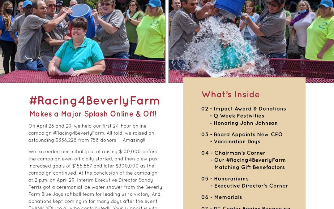 The Reporter / a Beverly Farm newsletter for families, friends & businesses / Spring 2021 issue